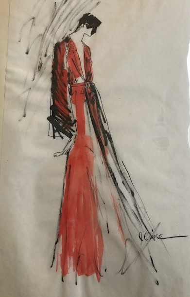 Maroon maxi dress with cutout back (2)