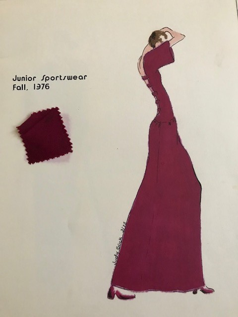 Maroon maxi dress with cutout back (2)